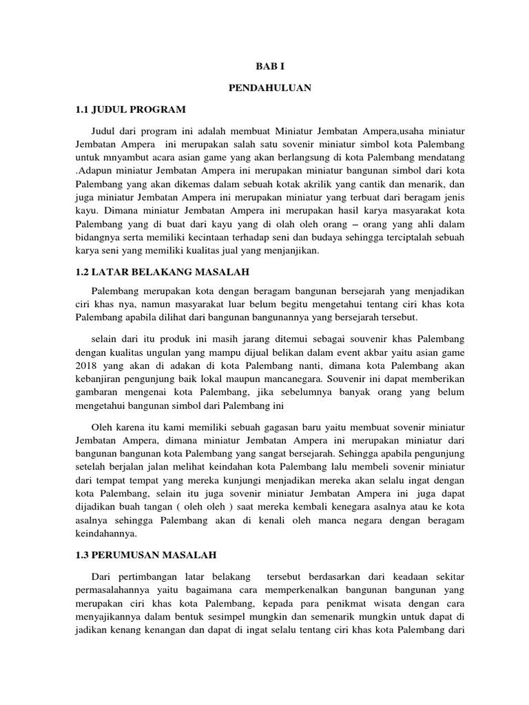 Laporan Proposal Kewirausahaan Individu 1