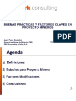 6 - Buenas Prácticas en Proyectos Mineros - J.P. González - SRK Consulting Chile