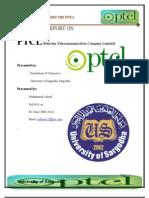 Final Internship Report on Ptcl