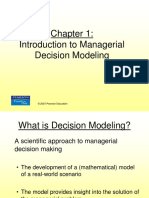 Chapter 01 Introduction to Managerial Decision Modeling