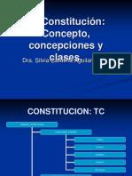 La Constitución; Concepto, Concepciones y Clases