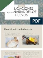 Usos Culinario de los Huevos