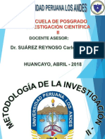INVESTIGACIÒN II - POSGRADO UPLA-ABRIL 2018