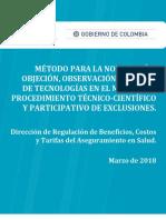 Metodología nominación-objeción de Exclusiones