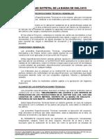 02.01 Specificaciones Técnicas Generales
