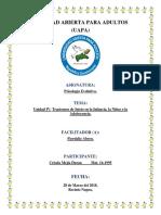 Unidad-IV Trastornos de Inicio en la Infancia, la Niñez o la Adolescencia..docx