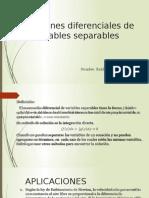 Ecuaciones Diferenciales-Variables Separables
