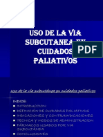 Uso de La via Subcutanea en Paliativos