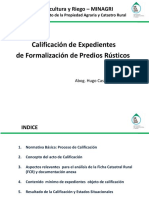 Calificación Expedientes Formalización