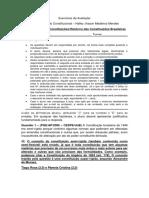 Classificação Das ConstituiçõesHistórico Das Constituições Brasileiras - 2º Exercicio