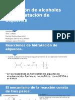 Obtención de Alcoholes Por Hidratación de Alquenos-Organica