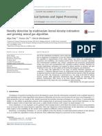 Novelty Detection by Multivariate Kernel Density Estimation and Growing Neural Gas Algorithm