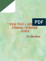 Fatores químicos e físicos que influenciam a fermentação alcoolica.