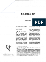 Los Annales, Hoy