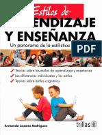 Estilos de Aprendizaje y Enseñanza (2ed. 2013 Reimp.).Reseña