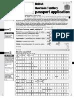 BOT Passport Application Form