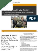 CIV2266 Week 1-2 Concrete Mix Design_30 July 2014