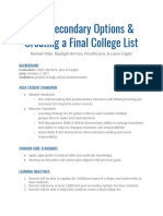 post secondary options lesson plan