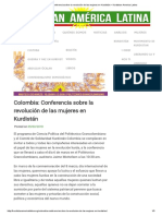 Colombia_ Conferencia Sobre La Revolución de Las Mujeres en Kurdistán – Kurdistan America Latina