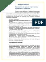 E.v. 2 - Resumen (Modelos de Negocios)