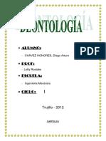 Capítulo I - Deontología Profesional