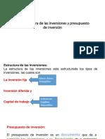5.1. Estructura de Las Inversiones y Presupuesto de Inversión