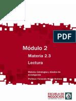 Lectura - Estrategias y Diseños de Investigación 2013