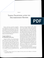Jewish Temple Traditions After Deuteronomist Reform