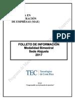 Folleto Bimestral Alajuela 2017