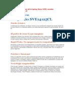 Características de La Laptop Sony VAIO