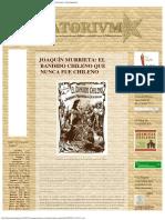URBATORIVM_ JOAQUÍN MURRIETA_ EL BANDIDO CHILENO QUE NUNCA FUE CHILENO.pdf