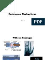 emisiones radiactivas 2013