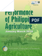 Performance of Philippine Agriculture (January to March 2018)