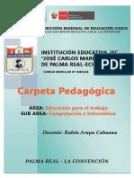 Carpeta Pedagogica EPT 2018