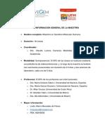 Información Básica Maestría