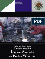 Informe de la CDI sobre la Consulta a lugares sagrados Wixarika