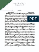 4. Violin I. Mozart, Sinfonía No. 29 K. 209