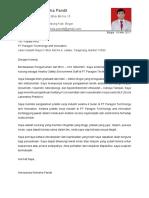 Surat Lamaran Anresansia Winesha Pandit