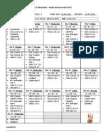 Course Program Cycle 1