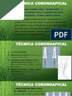 Técnica Coronoapical
