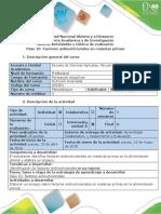 Guía de Actividades y Rúbrica de Evaluación - Paso 10- Factores Antinutricionales en Materias Primas