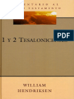 Comentario Al Nuevo Testamento - 1 y 2 Tesalonicenses - William Hendriksen