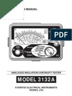 Kyoritsu Insulation Tester 3132A