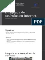 Búsqueda de Artículos en Internet