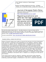 Regulating Prostitution and Same-sex Marriage in Italy and Spain. the Interplay of Political and Societal Veto Players in Two Catholic Societies