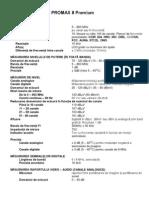 Specificații tehnice PROMAX 8 Premium