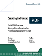Cascading the Balanced Scorecard