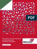 Brochure Interior Application Bruag Panels Wall Claddings Dividers Stair Railings Room Acoustics
