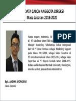 Biodata Calon Anggota Direksi 2018-Ind