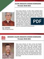 Biodata Calon Anggota Komisaris 2018-Ind